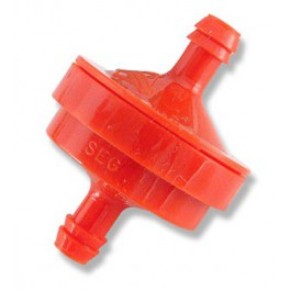 Filtre à essence rouge diamètre tube 6 mm d'origine référence 298090S pour moteur Briggs et Stratton