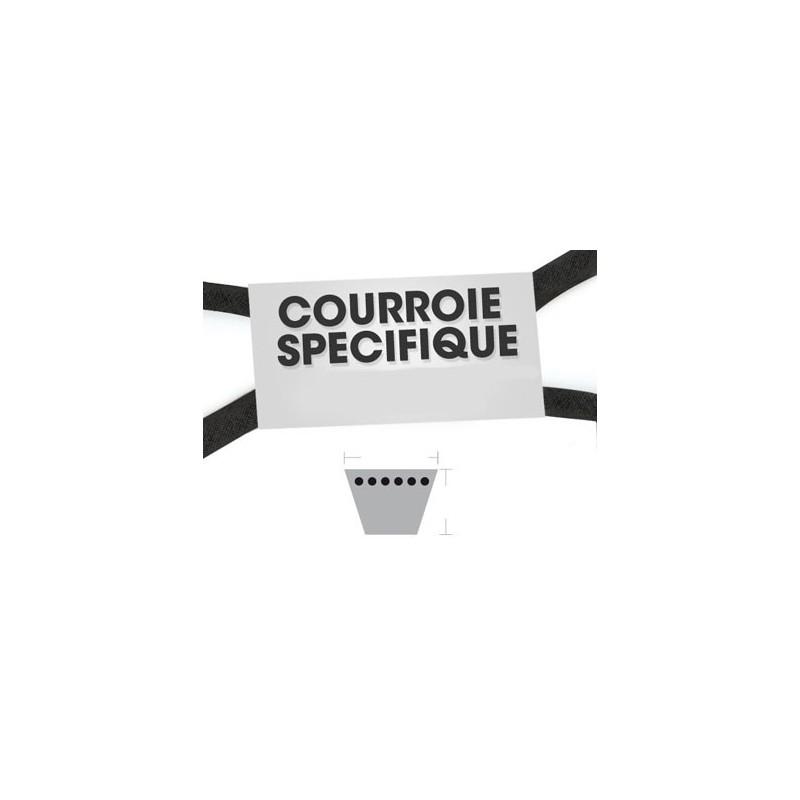 Courroie trapézoïdale adaptable double face spécifique pour marque TORO / WHEEL HORSE