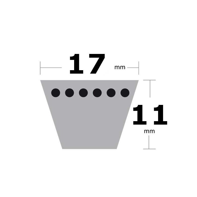 Courroie trapézoïdale classique lisse type B55