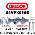 Chaine de tronçonneuse ,325 1,3 56E Oregon référence 95VPX056E