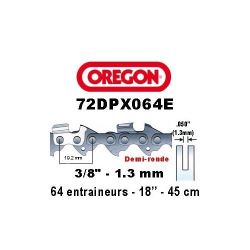 Chaine de tronçonneuse 3/8 1,3 64E Oregon référence 72DPX064E