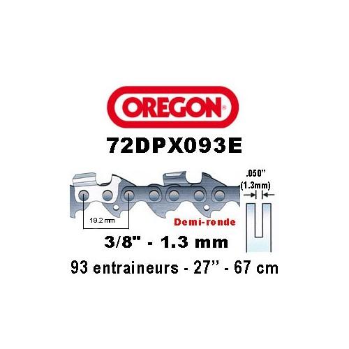 Chaine de tronçonneuse 3/8 1,3 93E Oregon référence 72DPX093E