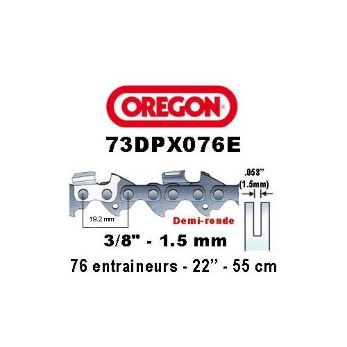 Chaine de tronçonneuse 3/8 1,5 76E Oregon référence 73DPX076E