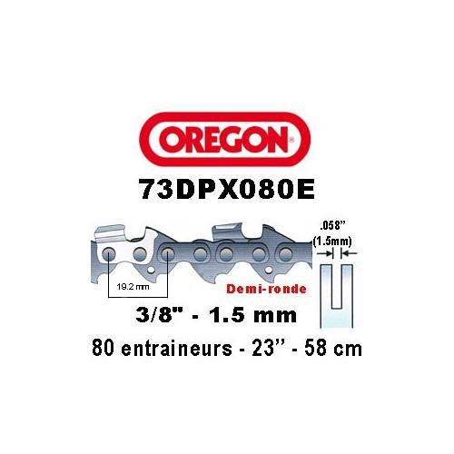 Chaine de tronçonneuse 3/8 1,5 80E Oregon référence 73DPX080E