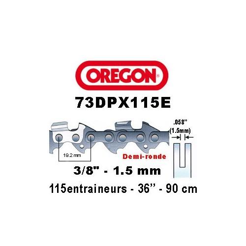 Chaine de tronçonneuse 3/8 1,5 115E Oregon référence 73DPX0115E