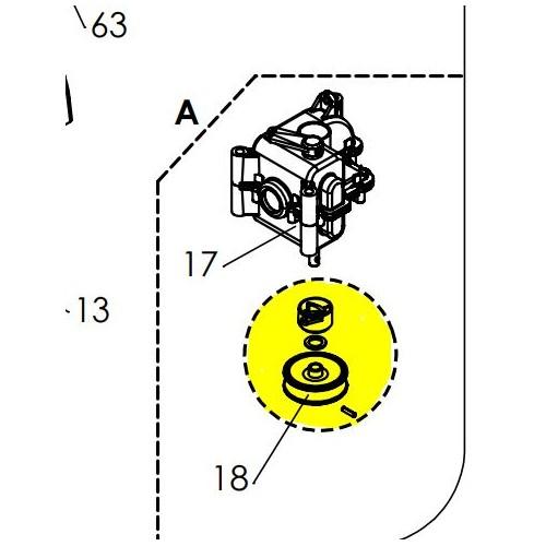 Kit poulie de variateur référence 0002050007 Pubert