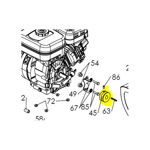 Poulie sortie moteur référence 0306060005 Pubert