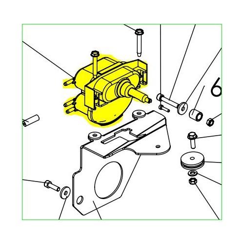 Vérin action pneumatique double cuves 10/00 référence 0340010048 Pubert