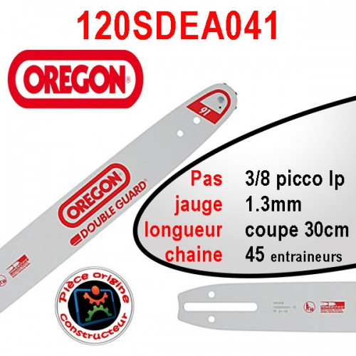 Guide chaine 30cm doubleguard OREGON 120SDEA041