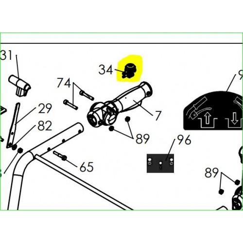 Vanne de commande embrayage pneumatique d'origine référence 0001000536 pubert
