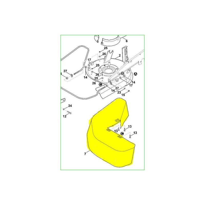 Tablier de protection référence 6380 760 6202 Stihl Viking MB6R