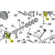 Palier d'arbre scarificateur d'origine référence 71523