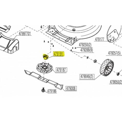 Support de lame tondeuse d'origine référence 479191  Alko