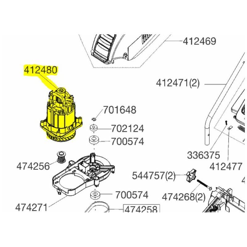 Moteur électrique complet 1400w origine référence 412480 Alko