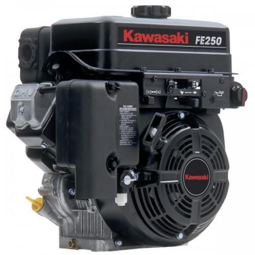 Moteur Kawasaki FE250G 8cv avec réducteur de rotation 1/2 pour débroussailleuse