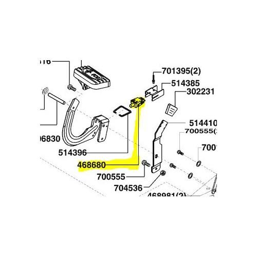 Interrupteur contacteur de sécurité d'origine référence 468680  Alko