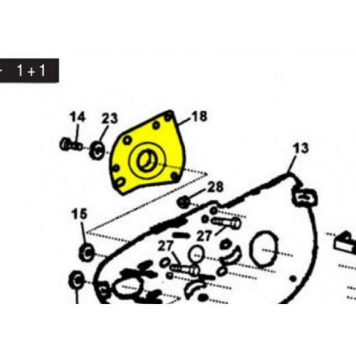 Platine palier avec roulement d'origine référence 39108 motobineuse Pilote 88