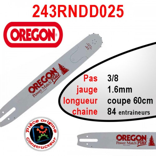 Guide chaîne Oregon 60cm référence 243RNDD025