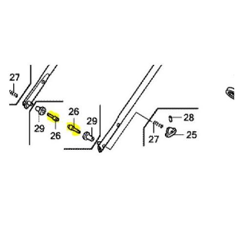 Goupille de fixation d'origine référence 53158-VL0-B01 Honda