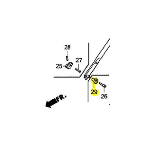 Bague épaulée filetée d'origine référence 91551-VL0-B00 Honda