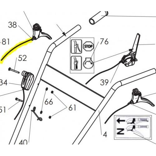 Cable reglage hauteur lg960 cf81 d'origine référence 0308030006 pubert