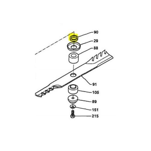 Rondelle lame 40x30,5x8 d'origine référence 0302020043 pubert
