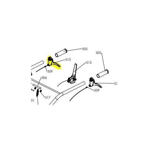 Manette embrayage  lab c25 d25 d'origine référence 0307010041 pubert