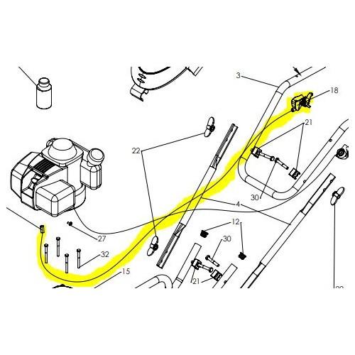 Cable de gaz avec manette d'accélérateurd'origine référence 0308040025 Pubert