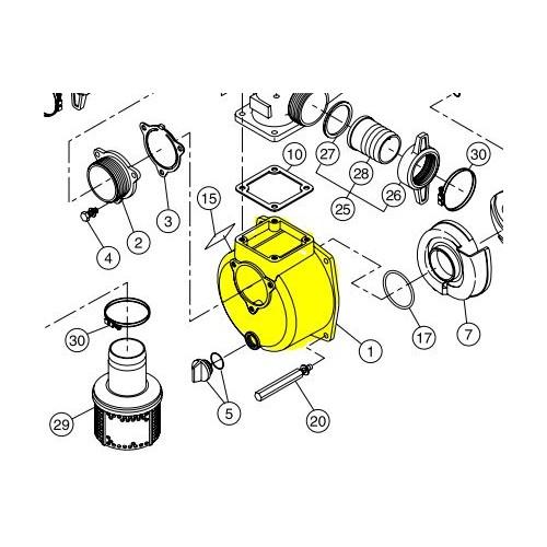 Corps de pompe à eau d'origine référence 0112578 Robin