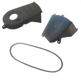 Courroie tondeuse débroussailleuse et carter de protection courroie